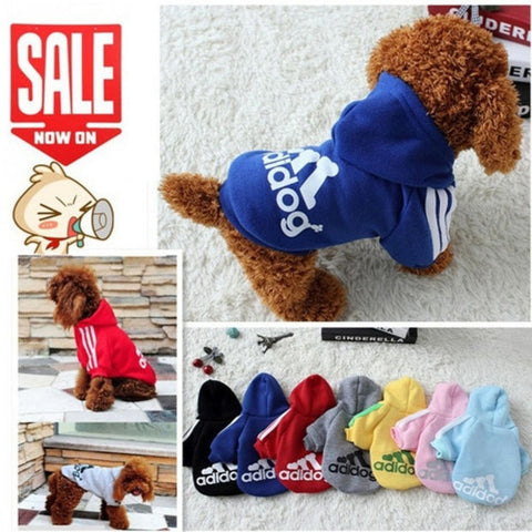 Pet Dog Clothes Autumn Winter Hoodie Coat Jumpsuit Sweater Adidog Clothing for Large Dogs Medium Small XS S M L XL XXL