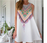 Women Summer dress Casual Boho Maxi Beach Sleeveless Floral dress
