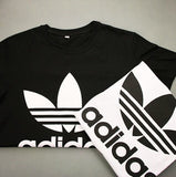 "Sexy ""Adidas"" Letter Print Short Shirt Top Tee"