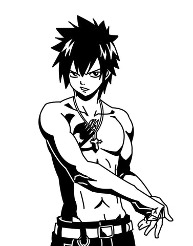 Fairy Tail -- Gray Fullbuster Anime Decal Sticker