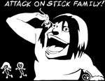 Attack on Titan -- Titan Eating Stick Family Anime Decal Sticker