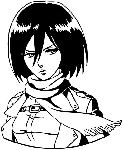 Attack on Titan -- Mikasa Ackerman Anime Decal Sticker