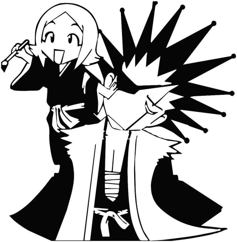 Bleach -- Kenpachi Zaraki and Yachiru Kusajishi Anime Decal Sticker