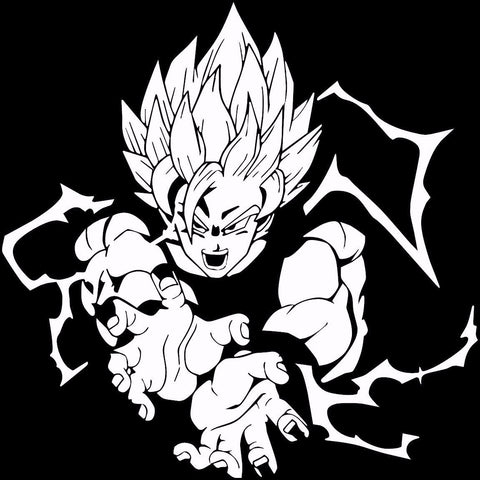 Dragon Ball Z (DBZ) - Super Saiyan Goku Kamehameha Anime Decal Sticker