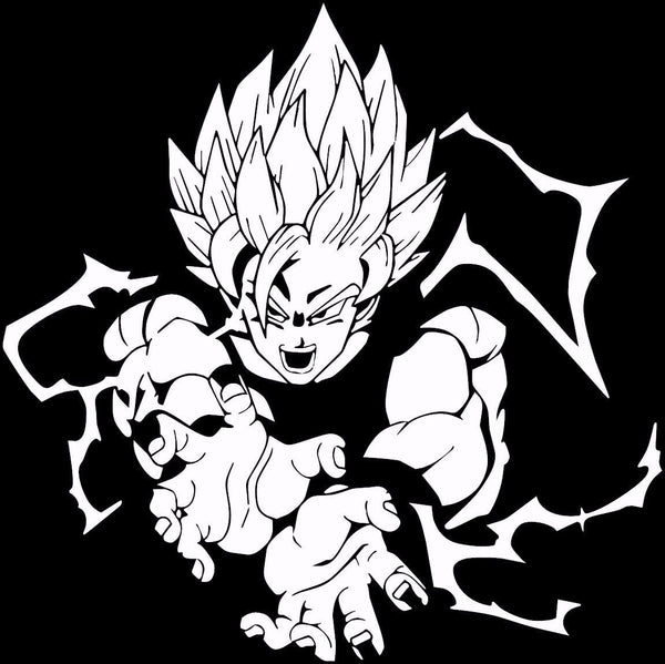 Dragon ball z dbz super saiyan goku anime decal kyokovinyl