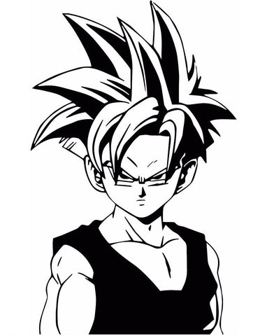 Dragon Ball Z (DBZ) -- Super Saiyan Teen Gohan Anime Decal Sticker