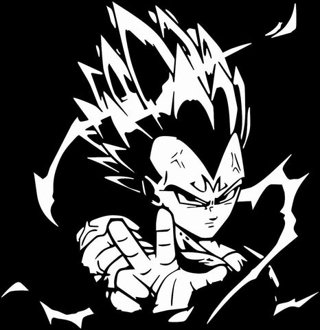 Dragon Ball Z (DBZ) -- Super Saiyan Vegeta Ki Blast Anime Decal Sticker
