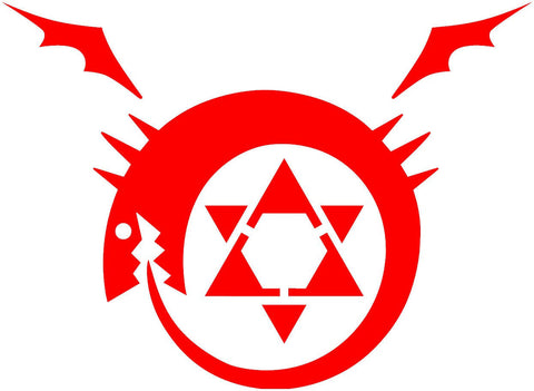 Fullmetal Alchemist -- Homunculus Logo Anime Decal Sticker