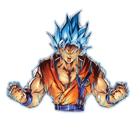 Dragon Ball Super -- Goku Super Saiyan/Blue/Rose Anime Decal Sticker