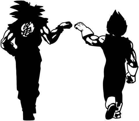 Dragon Ball Z (DBZ) -- Goku and Vegeta Fist Bump Anime Decal Sticker