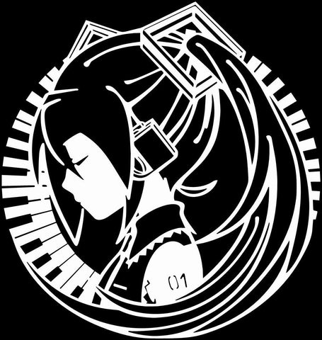 Vocaloid -- Hatsune Miku Piano Anime Decal Sticker