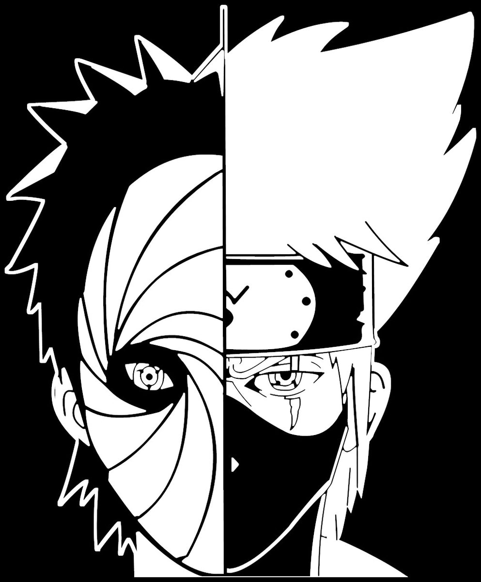 Naruto -- Kakashi Hitake and Obito Uchiha anime decal