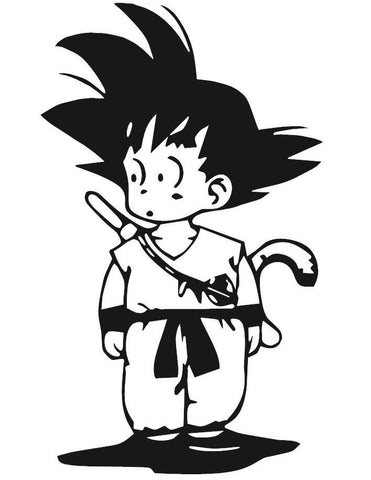 Dragon Ball Z (DBZ) - Kid Goku Anime Decal Sticker