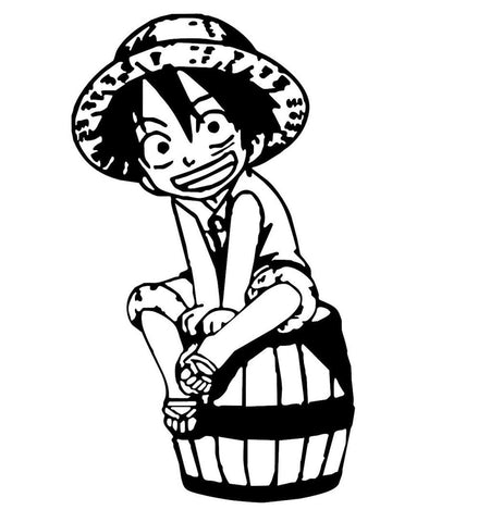 One Piece -- Monkey D Luffy Chibi Anime Decal Sticker