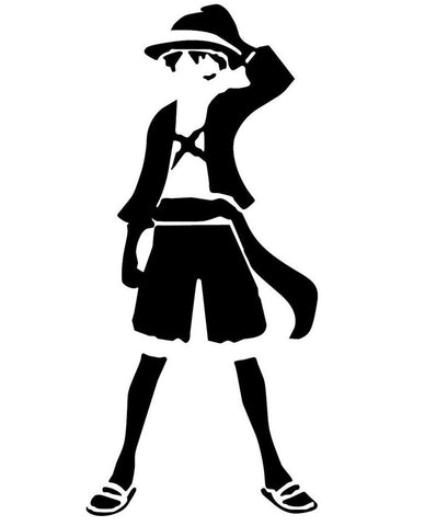 One Piece -- Monkey D Luffy (Minimalist) Anime Decal Sticker