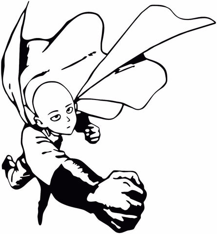 One Punch Man -- Saitama Full Anime Decal Sticker for Car/Truck/Laptop