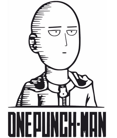 One Punch Man -- Saitama Anime Decal Sticker