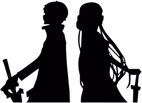 Sword Art Online (SAO) -- Kirito Asuna Anime Decal Sticker