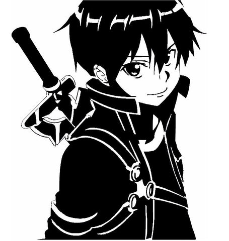 Sword Art Online (SAO) -- Kirito Anime Decal Sticker