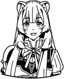 The Rising of the Shield Hero -- Raphtalia Anime Decal Sticker