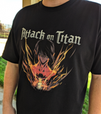 (PREORDER) Attack on Titan - Eren Yeager Anime T Shirt.
