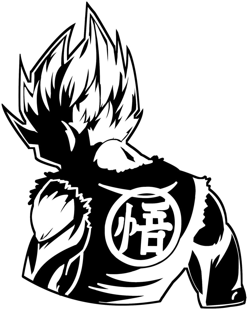 Dragon ball z dbz super saiyan goku anime decal sticker