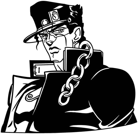 JoJo's Bizarre Adventure -- Jotaro Kujo Anime Decal Sticker