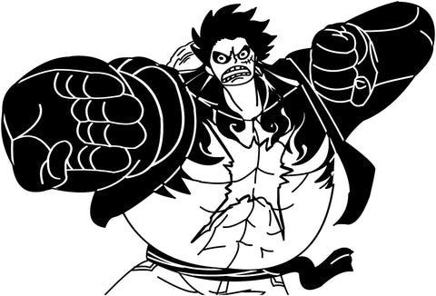 One Piece -- Luffy Fourth Gear Anime Decal