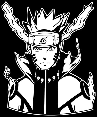 Naruto -- Naruto Uzumaki (Bijuu Mode) Decal Sticker