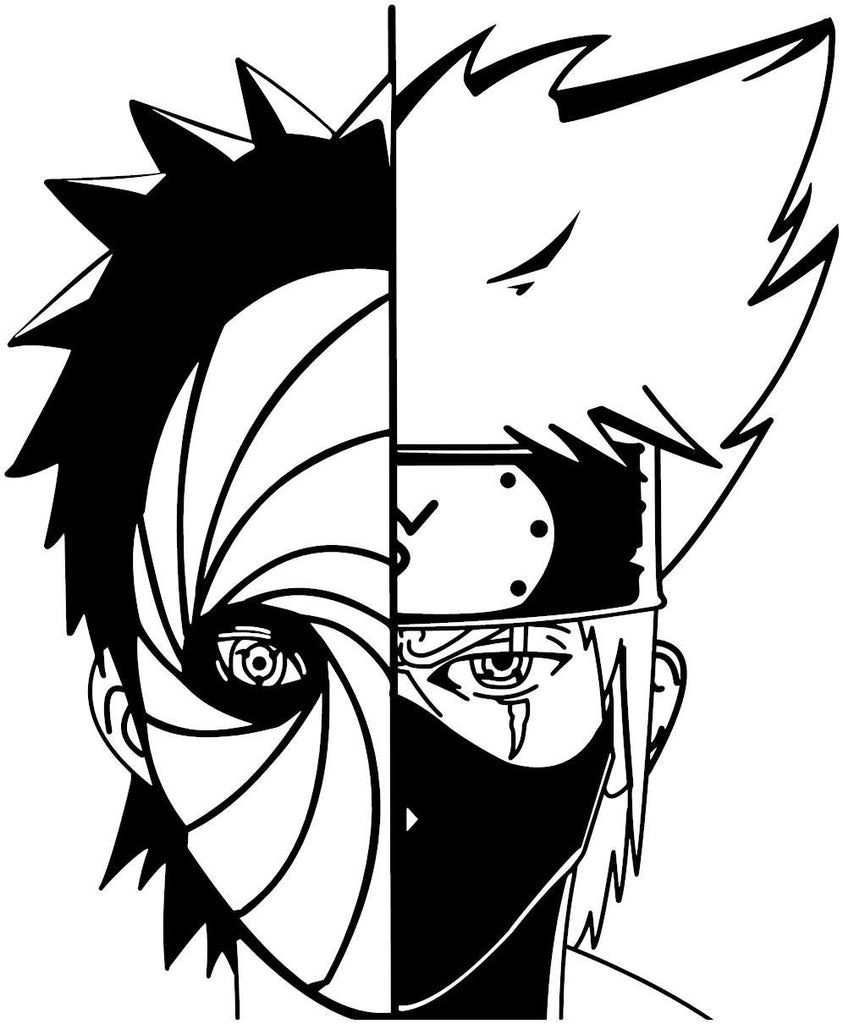 Naruto kakashi hitake and obito uchiha anime decal kyokovinyl