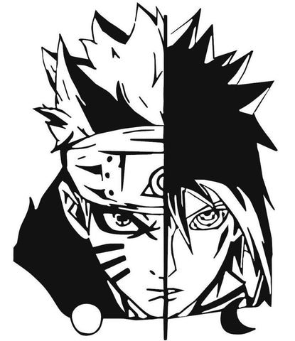 Naruto -- Naruto Uzumaki and Sasuke Uchiha Anime Decal Sticker