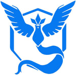 Pokemon Go -- Team Blue (Mystic) Decal Sticker
