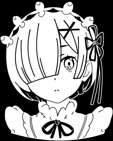 Re:Zero -- Rem Anime Maid Decal Sticker