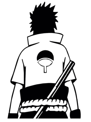 Naruto -- Sasuke Uchiha (Back) Anime Decal Sticker