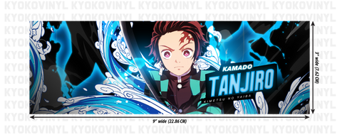 Demon Slayer - Tanjiro Anime Slap Sticker