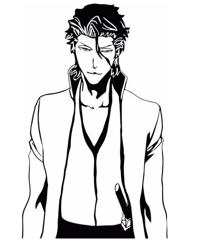 Bleach -- Aizen Sousuke Anime Decal Sticker