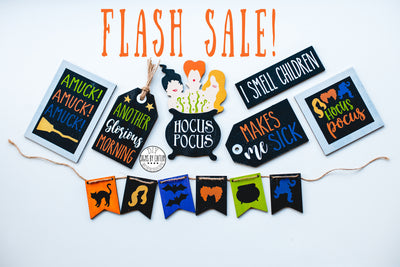 HOCUS POCUS TRAY SET  FLASH SALE
