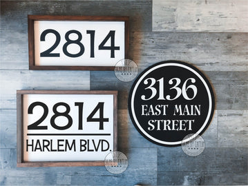 Custom Address Sign KITS