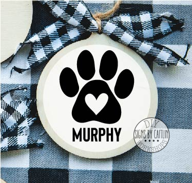 Paw Custom Name DIY Ornament