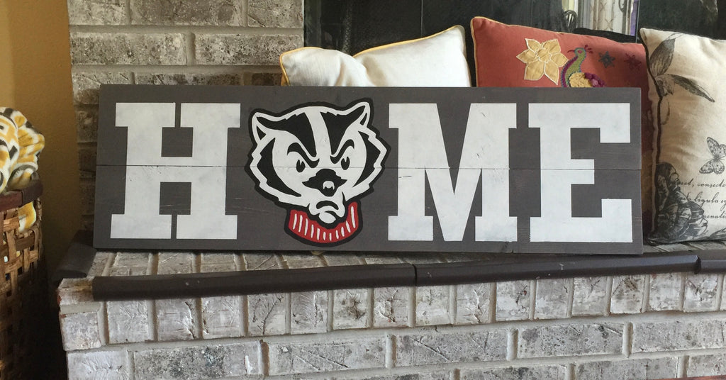 Officially Licensed Bucky Home Sign