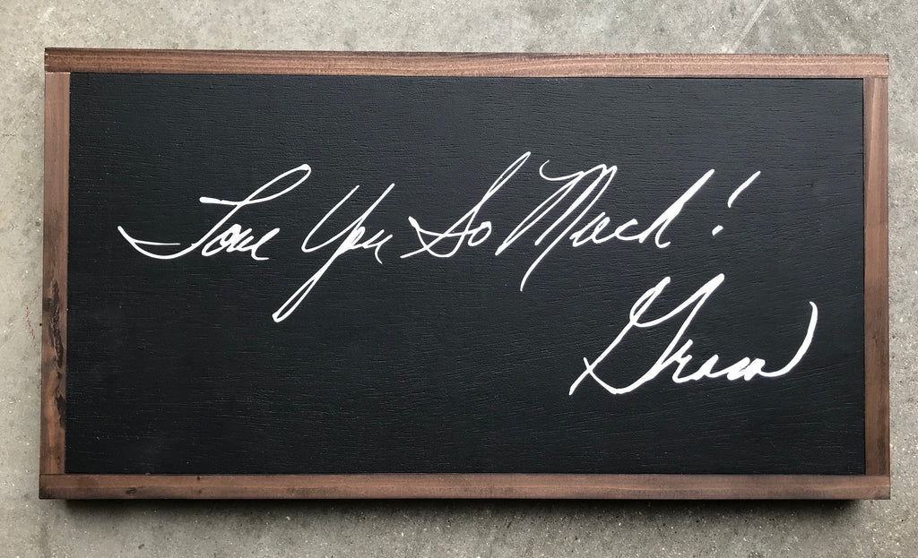 Handwritten Signature Signs