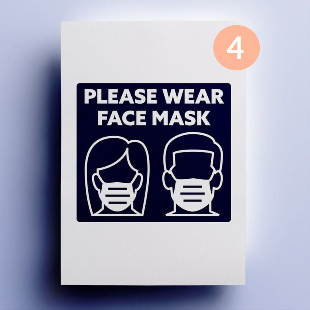 Face Mask Window Decals