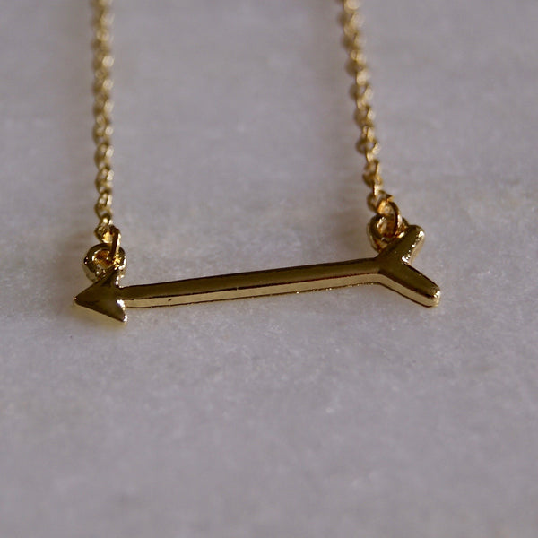 Arrow Necklace Gold - Golden Rule Jewelry Co.