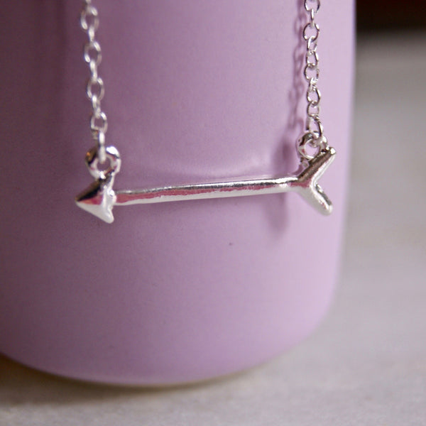 Arrow Necklace Silver - Golden Rule Jewelry Co.