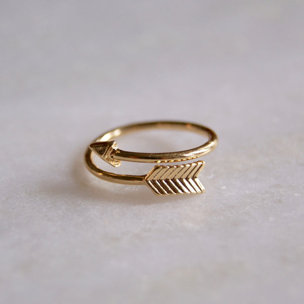 Arrow Wrap Ring Gold- Golden Rule Jewelry Co.