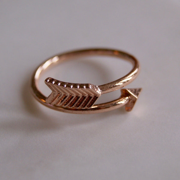 Arrow Wrap Ring Rose Gold- Golden Rule Jewelry Co.
