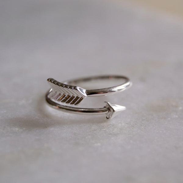 Arrow Wrap Ring Silver- Golden Rule Jewelry Co.