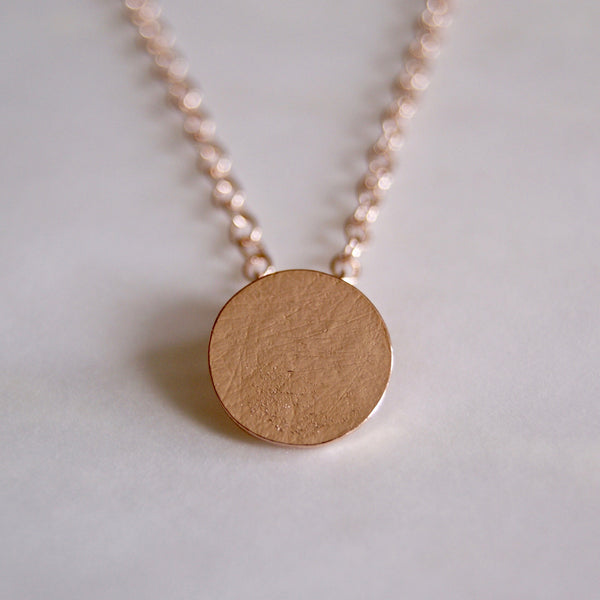Brushed Dot Necklace Rose Gold- Golden Rule Jewelry Co.
