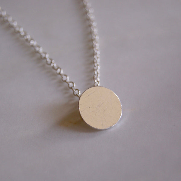 Brushed Dot Necklace Silver- Golden Rule Jewelry Co.