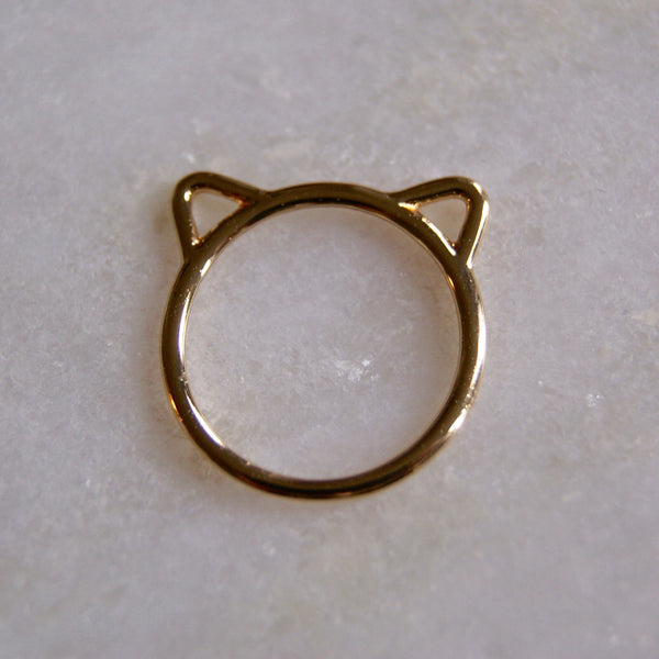 Cat Ears Ring Gold- Golden Rule Jewelry Co.